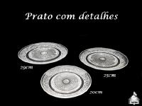 Pratos com Detalhes 29cm - 25cm - 20cm