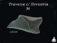 Travessa com Divisória M 33x33cm